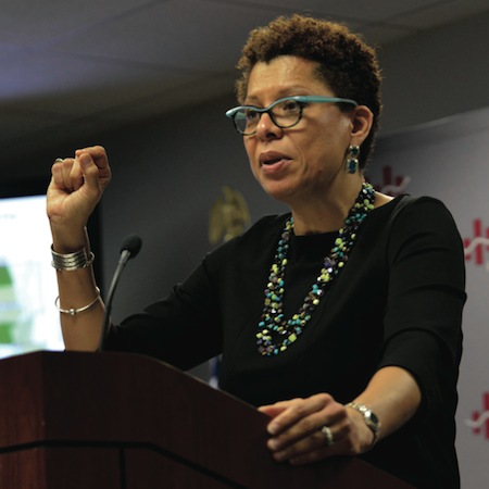 "Sheryll Cashin, a professor of law at Georgetown University in Washington D.C. advocates for ""place-based"" affirmative action policies in education. (Freddie Allen/NNPA)"