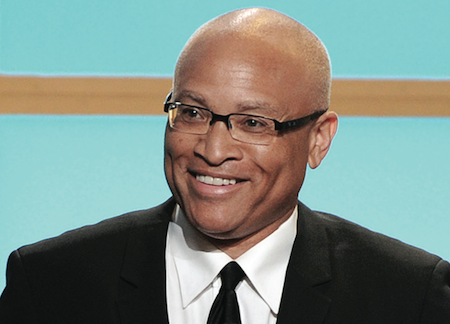 "In this Monday, June 10, 2013, photo, Larry Wilmore accepts the best talk show award for ""The Daily Show with Jon Stewart"" at the Critics' Choice Television Awards in the Beverly Hilton Hotel in Beverly Hills, Calif. (Photo by Frank Micelotta/ Invision/AP)"