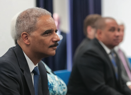 Attorney General Holder cited lack of U.S. data tracking use of force against and by police. Credit: Department of Justice