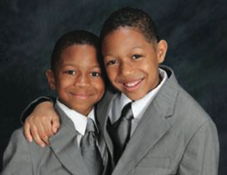 Joshua, 6, and Jeremiah, 8