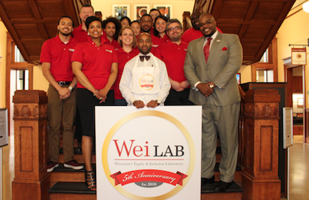 Dr. Jackson and his colleagues at the lab's 5th anniversary celebration.