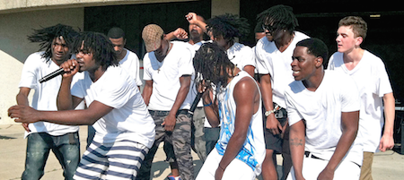 Big Hitz Ent performing at a UCAN event at James Madison Park. Photo credit: Karen Reece