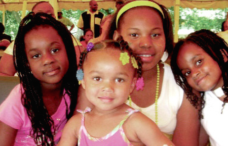 Kids celebrate at last year's Juneteenth Celebration
