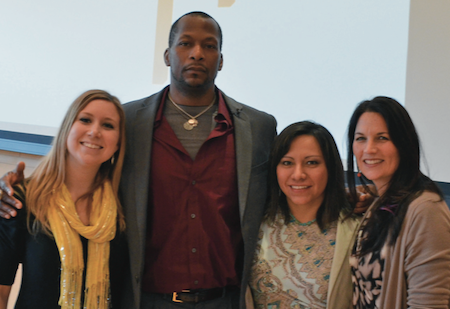 Step-Up core planners and co-creators (left to right): Amy Kesling, Haywood Simmons, Tania Ibarra, Sara Alvarado. Photo credit: Step Up: Equity Matters