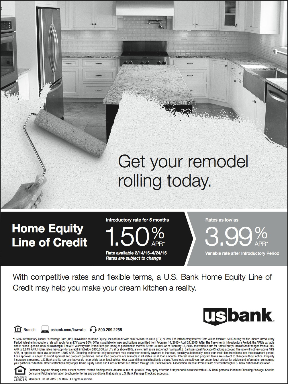 Advertisement: US Bank Home Equity Line of Credit