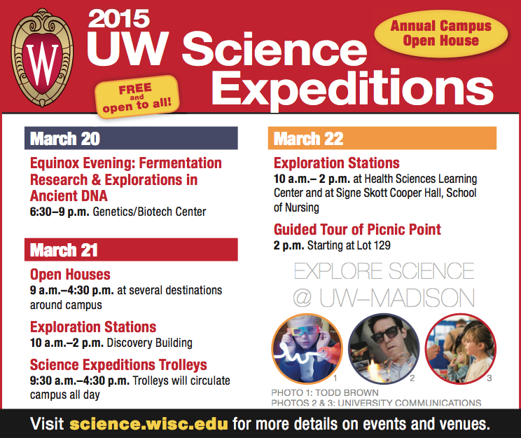 Advertisement: 2015 UW Science Expeditions