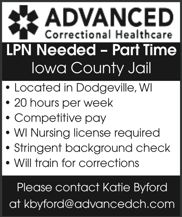 Advertisement: ADVANCED Correctional Healthcare