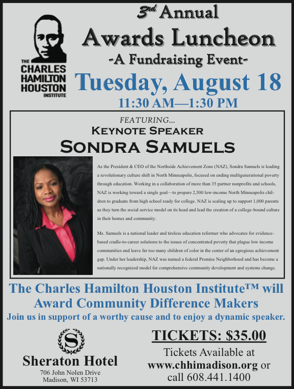Advertisement: The Charles Hamilton Houston Institute – 3rd Annual Awards Luncheon