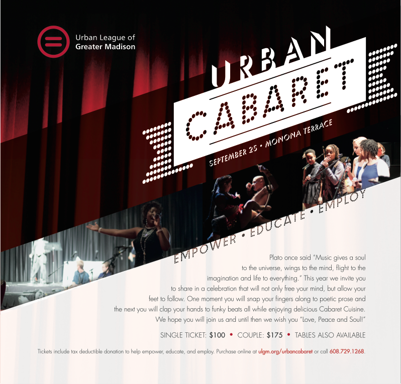 Advertisement: Urban League of Greater Madison – Urban Cabaret