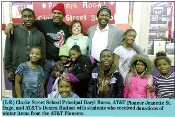 AT&T Pioneers donate over 530 winter clothing items to help keep Milwaukee students warm this winter