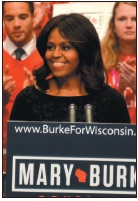 First Lady Michelle Obama rallies young voters in Madison