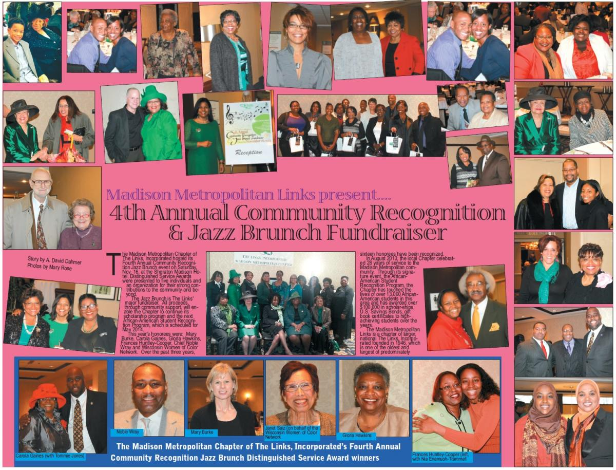 Madison Metropolitan Links present...4th Annual Community Recognition & Jazz Brunch Fundraiser