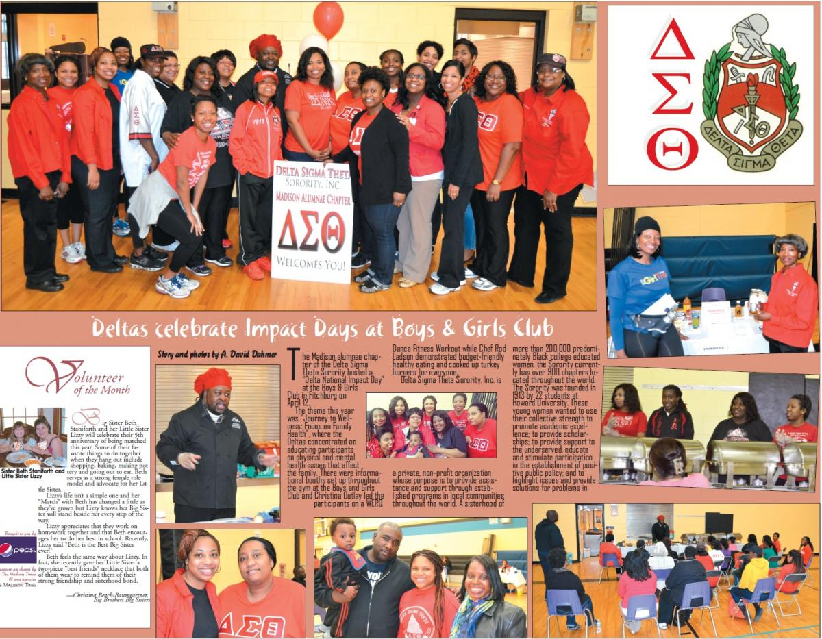 Deltas celebrate Impact Day at Boy and Girls Club