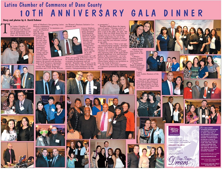 Latino Chamber of Commerce of Dane County: 10th Anniversary Gala Dinner