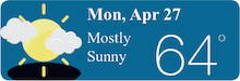 Weather Forecast Mon, Apr 27