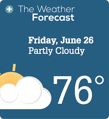 Weather Forecast Friday, June 26